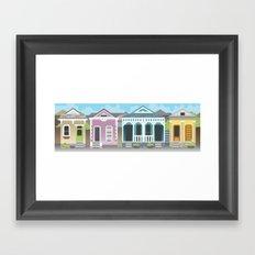 New Orleans Houses Framed Art Print