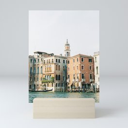 Travel photography | Architecture of Venice | Pastel colored buildings and the canals | Italy Mini Art Print