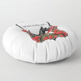 Scottie Roses Floor Pillow