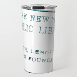 New York Public Library stamp Travel Mug