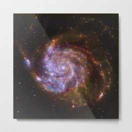 Spiral Galaxy Messier 101 Metal Print