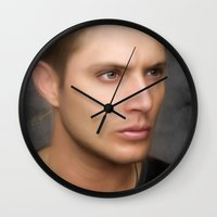 winchester Wall Clocks featuring Eldest Winchester by Andi Robinson