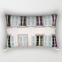 Eight Window Shutters Open and Closed Rectangular Pillow
