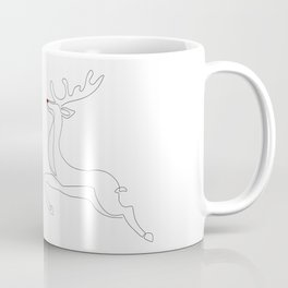 Red Nose Reindeer Coffee Mug