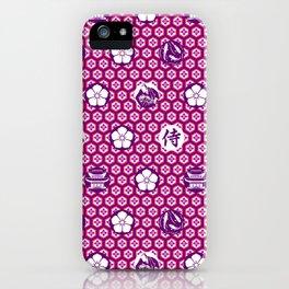 Samurai, Cherry Blossom Japanese Style Art iPhone Case