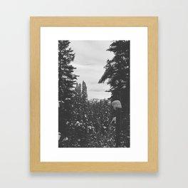 be still like the mountains Framed Art Print