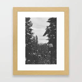 be still like the mountains Framed Art Print