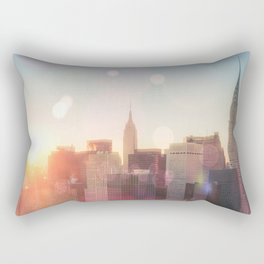 New York City Skyline Love Rectangular Pillow