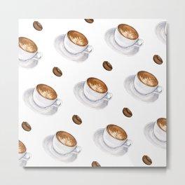 Cappuccino - diagonal Metal Print