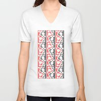 maori V-neck T-shirts featuring Maori Kowhaiwhai Distressed Pattern by mailboxdisco
