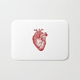Vintage Heart Anatomy Bath Mat
