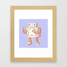 Kawaii Robot Framed Art Print