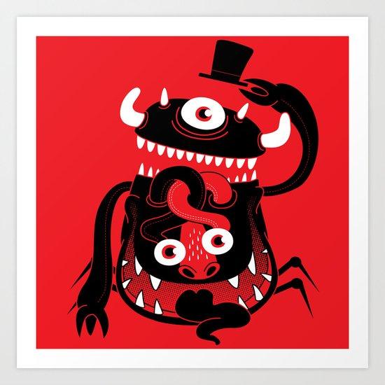 Mister Monster Art Print