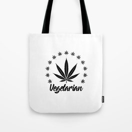 Vegetarian | Weed Cannabis Art Work Gift Tote Bag
