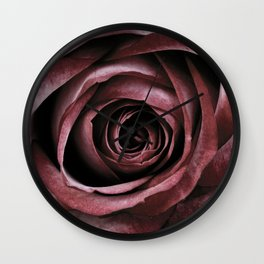 Decorative Red Rose Floral Wall Clock