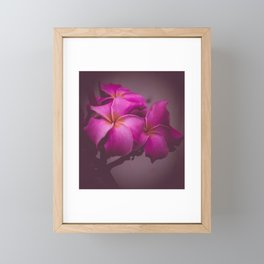 Delicate Pink Flowers Framed Mini Art Print