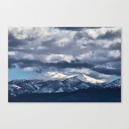 Snowcapped Sierras Canvas Print