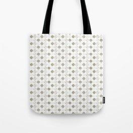Dancing Grey Circles by Deirdre J Designs Tote Bag