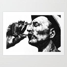 Heat - Man With Drink Art Print