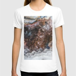 Tiny geode crystal cave T-shirt