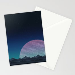 To lands untouched we travel. Stationery Cards