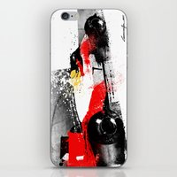 senna iPhone & iPod Skins featuring AYRTON SENNA MP4-4 by Michele Leonello