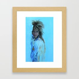 His Cold Stare Framed Art Print