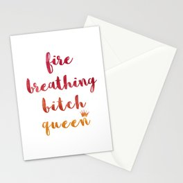 Fire Breathing Bitch Queen Stationery Cards