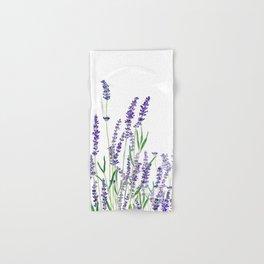 lavender watercolor horizontal Hand & Bath Towel