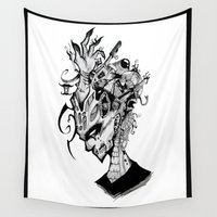 depression Wall Tapestries featuring Depression by Sarah Pain