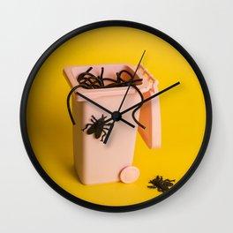 Trash food Wall Clock