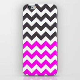 Chevron Pink, Dark Grey iPhone Skin