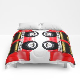 red classic car Comforters