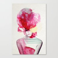 modern family Canvas Prints featuring Bright Pink - Part 2  by Jenny Liz Rome
