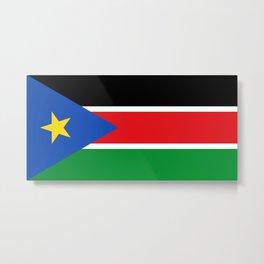 South Sudan Flag Metal Print