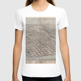 Vintage Pictorial Map of Austin Texas (1873) T-shirt