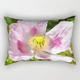Papaver Somniferum Opium Poppy Rectangular Pillow