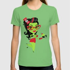 Bettie Bakes a Doomcake Grass LARGE Womens Fitted Tee