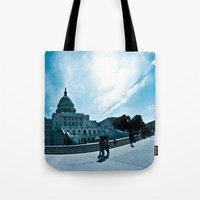 dc Tote Bags featuring DC by Nick Duarte