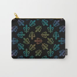 FLEUR DE LIS - seamless pattern black rainbow Carry-All Pouch