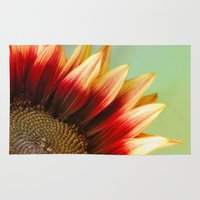 sunflower Area & Throw Rugs featuring Sunflower by Wood-n-Images