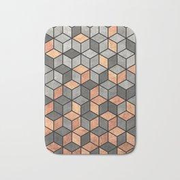 Concrete and Copper Cubes Bath Mat