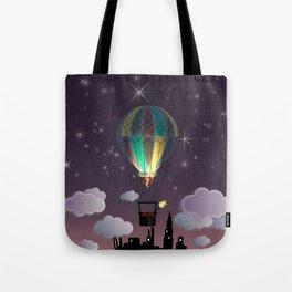 Balloon Aeronautics Night Tote Bag