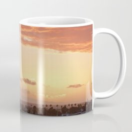 Modern Sunset On Cliff Drive Newport Beach CA Coffee Mug