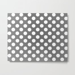 Lunares gris Metal Print