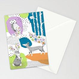 Woodland Animal Scene Stationery Cards