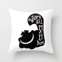 Alice Cheshire Cat Throw Pillow