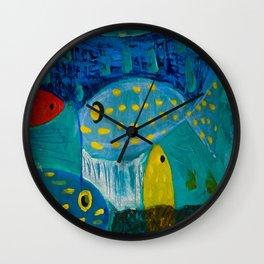 Fish meeting Wall Clock