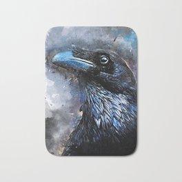 Crow art #crow #bird #animals Bath Mat