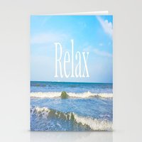 relax Stationery Cards featuring Relax by JuniqueStudio